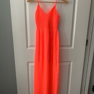 Dolce Vita coral maxi dress